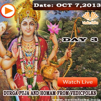 Navratri Puja and Homam-Day 3
