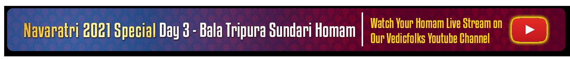 Navaratri 2021 special - Bala Tripurasundari Homam
