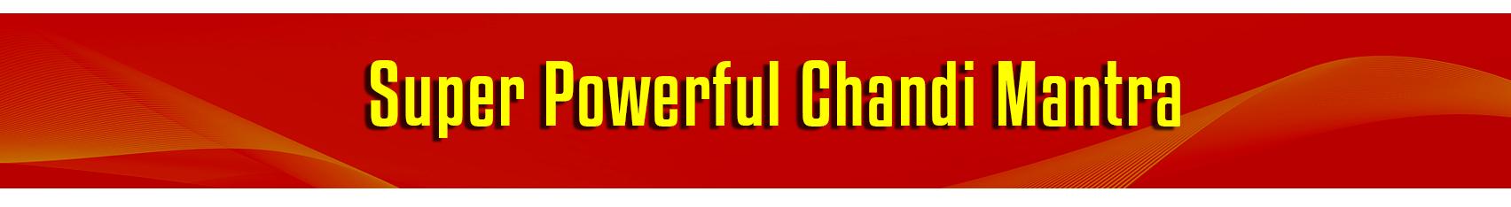 Chandi-Mantra