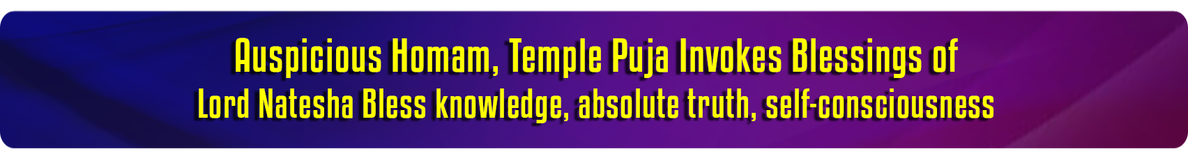 Temple Pujas