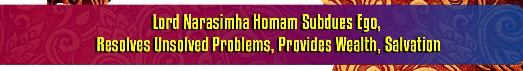 Trinity Narasimha Homam